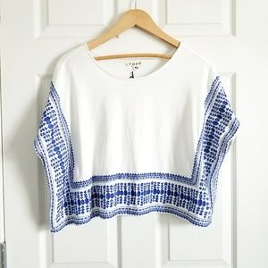 COPE Embroidered Crop Top